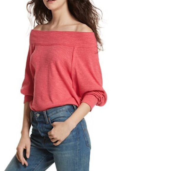 e39c2abcb2cf6 FREE PEOPLE Palisades Off the Shoulder Thermal NWT